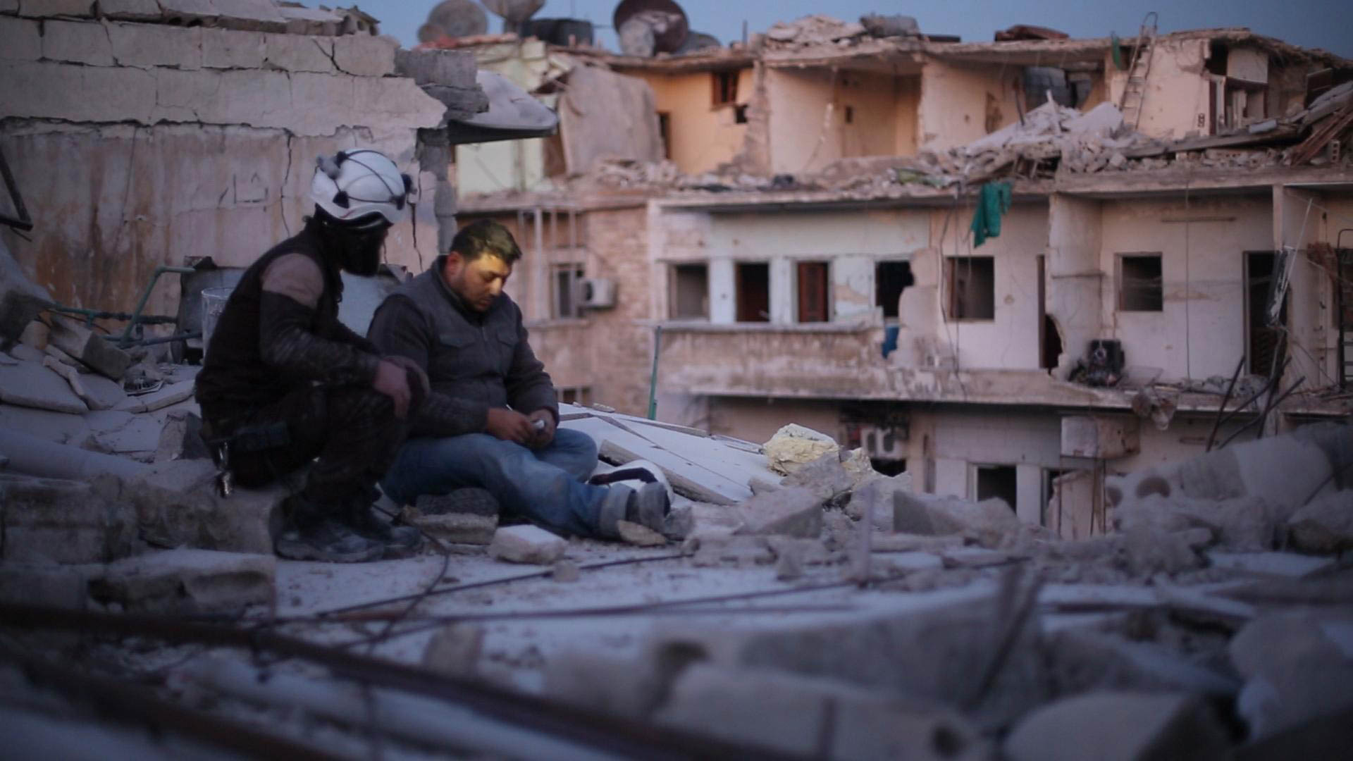 Khalid appears in Last Men in Aleppo by Feras Fayyad and Steen Johannessen, an official selection of the World Cinema Documentary Competition at the 2017 Sundance Film Festival. © 2016 Sundance Institute.