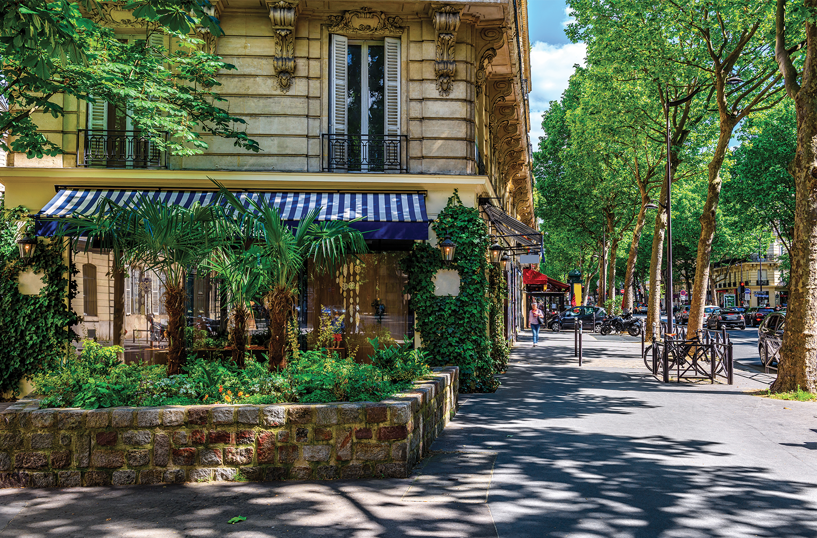 Boulevard Saint-Germain in Paris, France