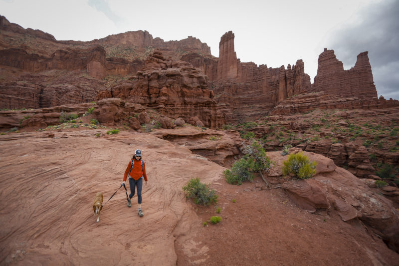 dog hikes in Moab