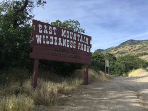 East Mountain Wilderness Park sign