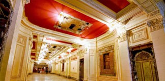 The now gutted interior of the Utah Theater courtesy savetheutahpantages.org